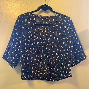 Leopard Crop Blouse